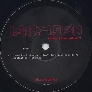 Larry Levan / Classic Mixes Volume 2 back