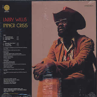 Larry Willis / Inner Crisis back