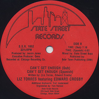 Liz Torres Featuring Edward Crosby / Can't Get Enough back