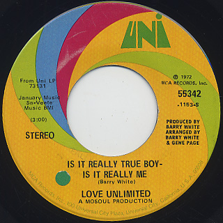 Love Unlimited / Is It Really True Boy Is It Really Me