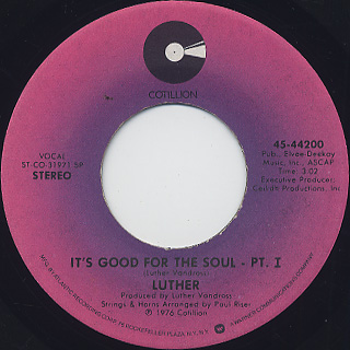 Luther / It's Good For Soul (Part 1)