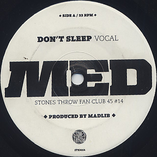MED / Don't Sleep front