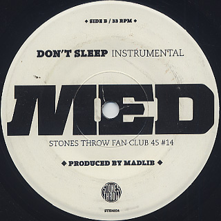 MED / Don't Sleep back