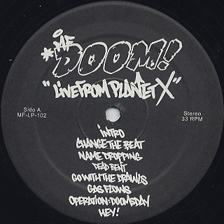 MF Doom / Live From Planet X label
