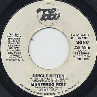 Manfredo Fest / Jungle Kitten back