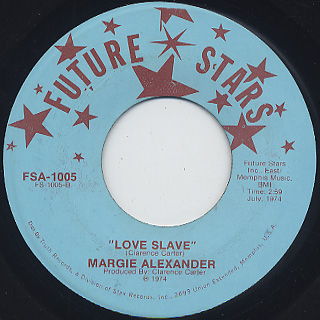 Margie Alexander / Keep On Searching c/w Love Slave back