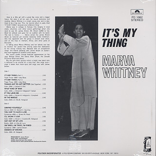 Marva Whitney / It's My Thing back