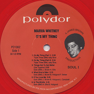 Marva Whitney / It's My Thing label