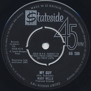 Mary Wells / My Guy c/w Oh Little Boy (What Did You Do To Me)