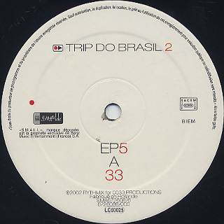 Mental Remedy / Larry Heard / Trip Do Brazil 2 - EP5 label