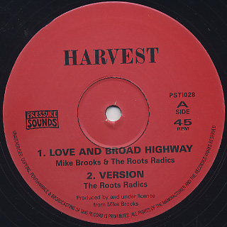 Mike Brooks & The Roots Radics / Love And Broad Highway back