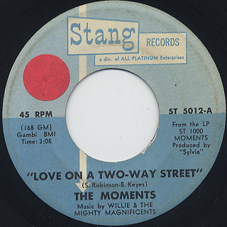 Moments / Love On A Two-Way Street (45)