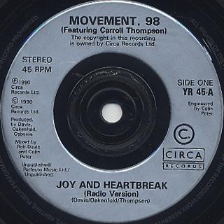 Movement 98 feat. Carroll Thompson / Joy And Heartbreak (7