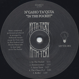N'gaho Ta'quia / In The Pocket label