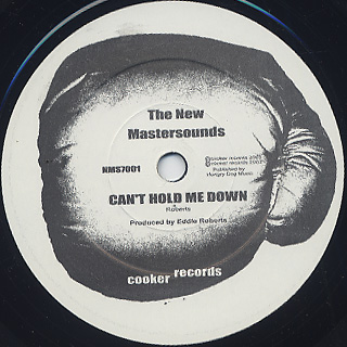 New Mastersounds / (So You Can) Get Back c/w Can't Hold Me Down back