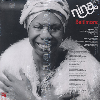 Nina Simone / Baltimore back