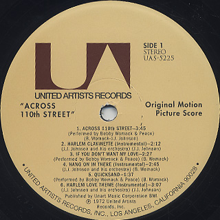 O.S.T.(Bobby Womack) / Across 110th Street label