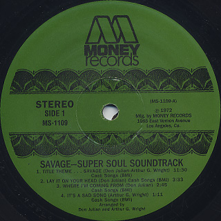O.S.T.(Don Julian) / Savage! label