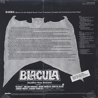 O.S.T.(Gene Page) / Blacula back