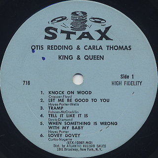 Otis Redding, Carla Thomas / King & Queen label