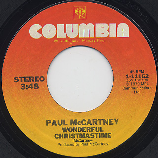 Paul McCartney / Wonderful Christmastime