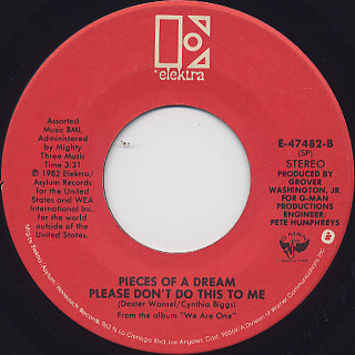 Pieces Of A Dream / Mt. Airy Groove c/w Please Don't Do This To Me back