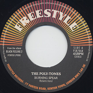 Poly-Tones / Burning Spear c/w Mighty Show-Stoppers / Shaft In Africa