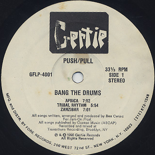 Push/Pull / Bang The Drums label