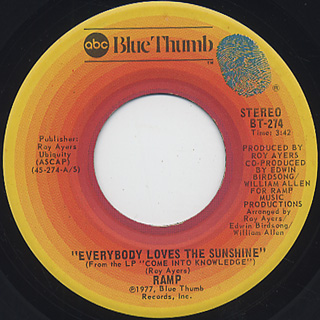Ramp / Everybody Loves The Sunshine