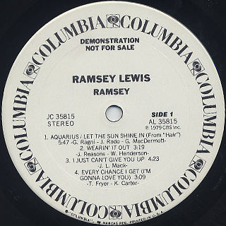 Ramsey Lewis / Ramsey label
