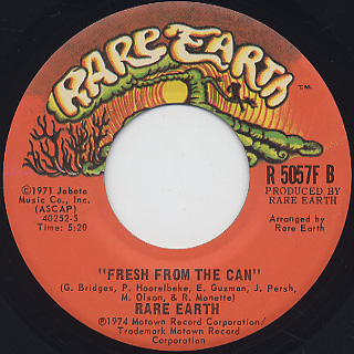 Rare Earth / Chained c/w Fresh From The Can back
