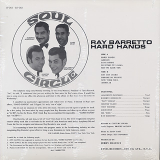 Ray Barretto / Hard Hands back