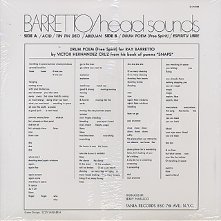 Ray Barretto / Head Sounds back