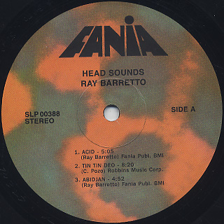 Ray Barretto / Head Sounds label