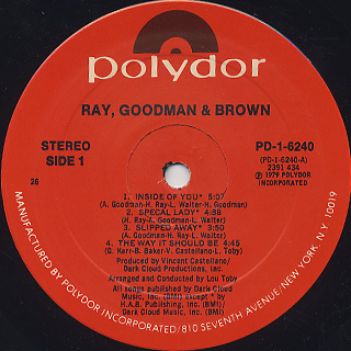 Ray, Goodman & Brown / S.T label