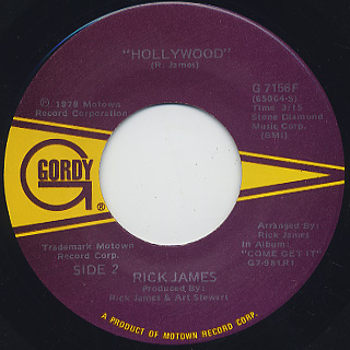 Rick James / You And I c/w Hollywood back