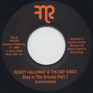Rickey Calloway & The Dap Kings / Stay In The Groove