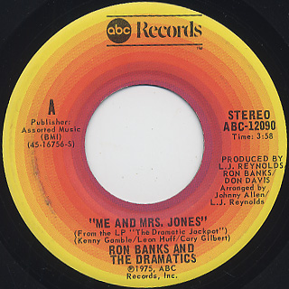 Ron Banks And The Dramatics / Me And Mrs. Jones front