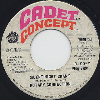 Rotary Connection / Peace At Least c/w Silent Night Chant back