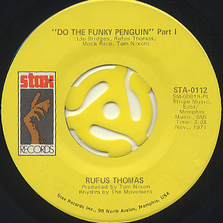 Rufus Thomas / Do The Funky Penguin (pt1) c/w (pt2)