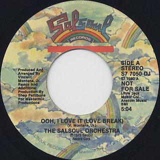 Salsoul Orchestra / Ooh, I Love It (Love Break) front
