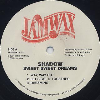 Shadow / Sweet Sweet Dreams label