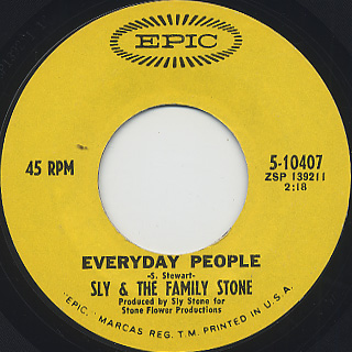Sly And Family Stone / Everyday People c/w Sing A Simple Song (EX-)
