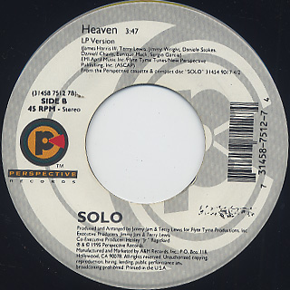 Solo / Where Do U Want Me To Put It c/w Heaven back