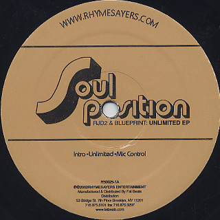 Soul Position / Unlimited EP label