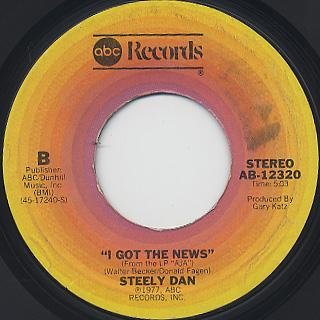 Steely Dan / Peg c/w I Got The News back