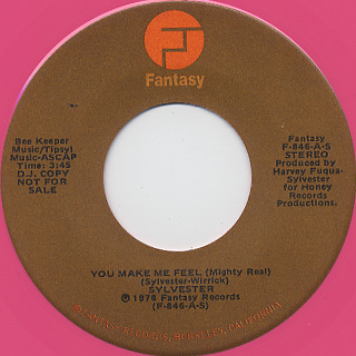 Sylvester / You Make Me Feel (Mighty Real)