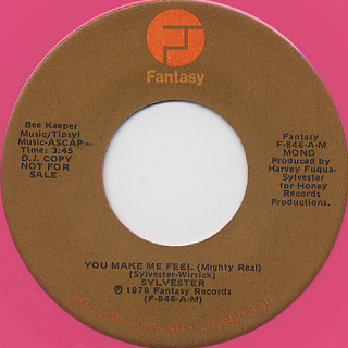 Sylvester / You Make Me Feel (Mighty Real) back