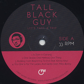 Tall Black Guy / Let's Take A Trip label