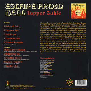 Tapper Zukie / Escape From Hell back